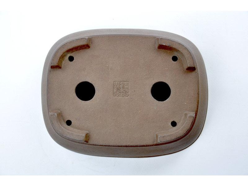 Rechthoekige ongeglazuurde Zenigo-pot - 190 x 148 x 58 mm