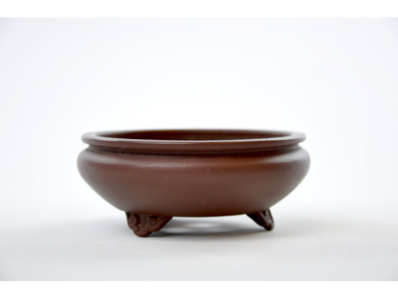 Round unglazed Bigei pot - 120 x 120 x 50 mm