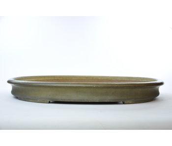 Reiho smaltato beige ovale, vaso di seconda generazione - 580 mm