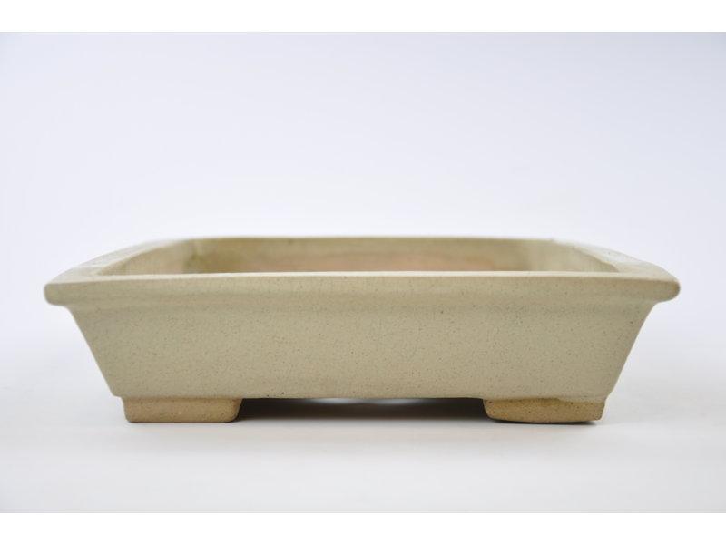 Vaso rettangolare beige smaltato - 375 x 260 x 70 mm