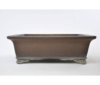 Rectangular unglazed Sanpou pot - 300 mm