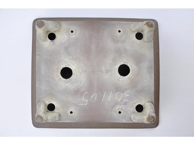 Pot Sanpou rectangulaire non émaillé - 300 x 260 x 100 mm