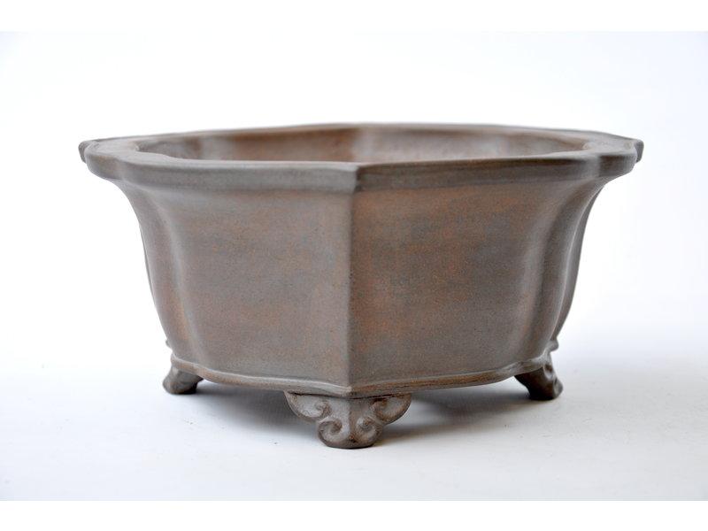 Mokko ongeglazuurde Reiho, tweede generatie pot - 240 x 215 x 100 mm