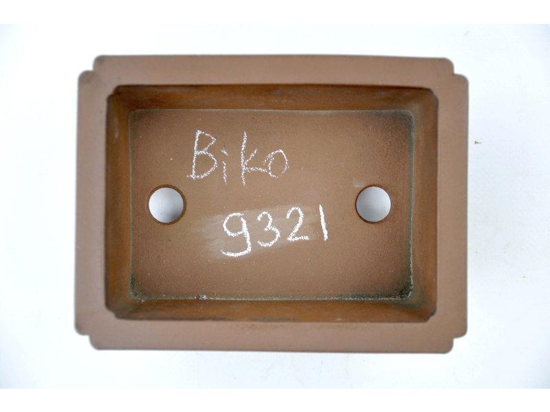 Rectangular unglazed Bikou pot - 160 x 125 x 55 mm
