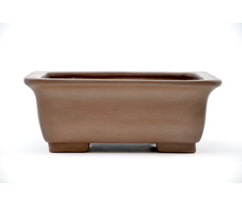 Rectangular unglazed Hokusai pot - 132 mm