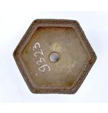 Sechseckiger unglasierter Topf - 115 x 115 x 45 mm
