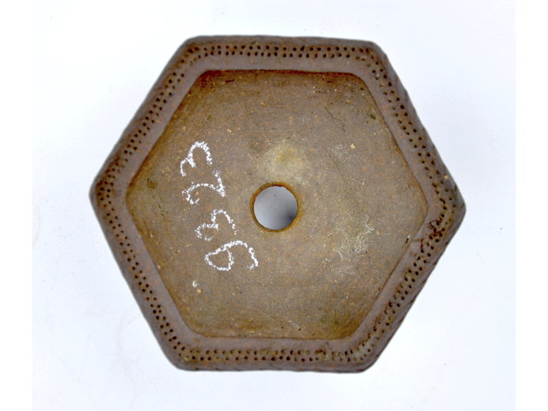 Pot hexagonal non émaillé - 115 x 115 x 45 mm