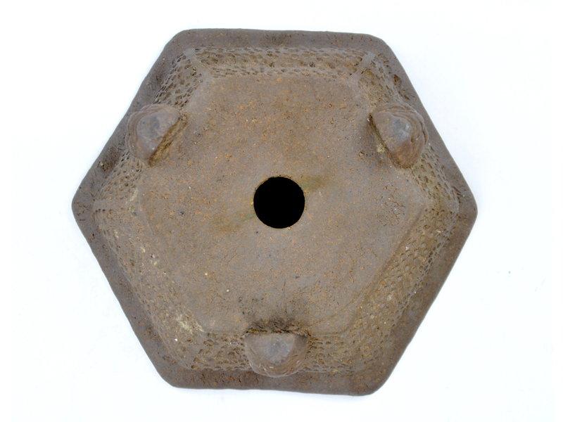 Vaso esagonale non smaltato - 115 x 115 x 45 mm
