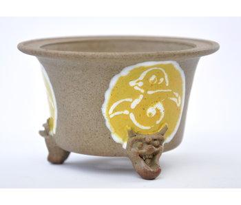 Round unglazed Itou Tonyo pot - 100 mm