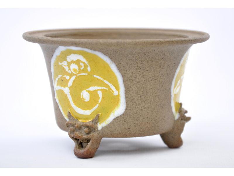 Round unglazed Itou Tonyo pot - 100 x 100 x 60 mm