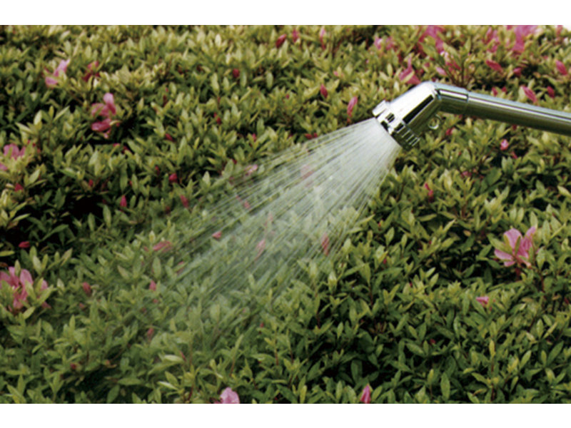 Long metal watering sprayer by Takagi for thick hoses - 320 mm