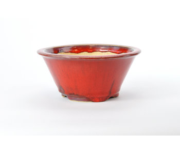 Pot Sharaku rond rouge - 160 mm