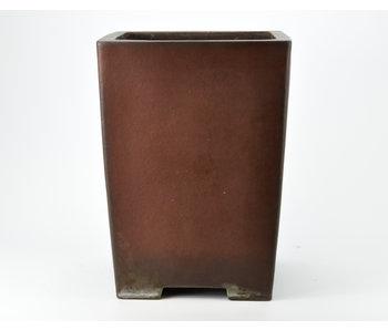 Vierkante ongeglazuurde Yamaaki-pot - 240 mm