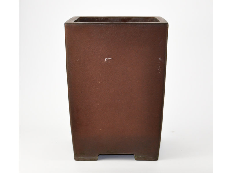 Square unglazed Yamaaki pot - 240 x 240 x 330 mm