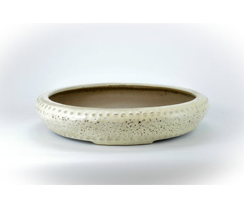 Pot Shuhou rond blanc - 345 mm