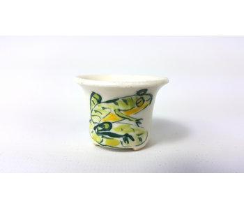 Round handpainted Elsebeth Bruun Ludvigsen pot - 42 mm