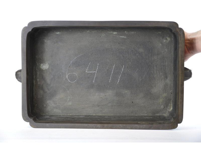 Rechthoekige bronzen suiban - 455 x 305 x 150 mm