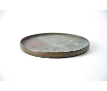 Round bronze suiban - 105 mm (Doban)