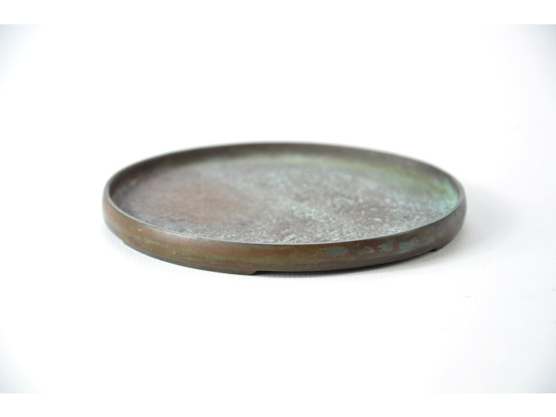 Suiban rotondo in bronzo - 105 x 105 x 10 mm (Doban)