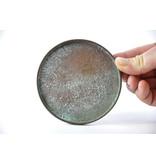 Round bronze suiban - 105 x 105 x 10 mm  (Doban)