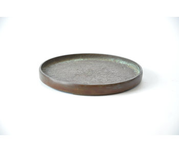 Round bronze suiban - 85 mm (Doban)