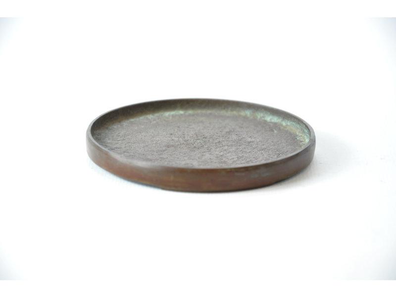 Suiban rotondo in bronzo - 85 x 85 x 10 mm (Doban)