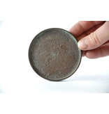 Suiban de bronce redondo - 85 x 85 x 10 mm (Doban)
