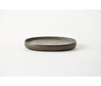 Oval bronze suiban - 90 mm (Doban)