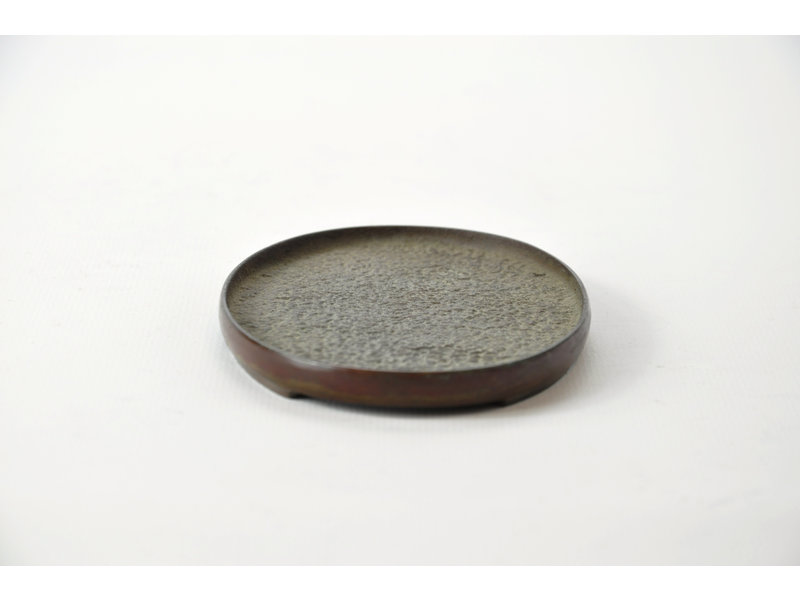 Oval bronze suiban - 117 x 80 x 10 mm (Doban)