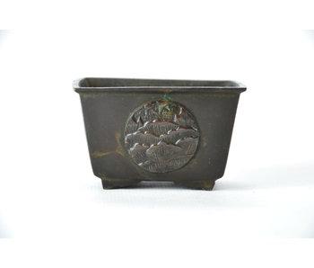 Suiban rectangular de bronce - 65 mm (Doban)