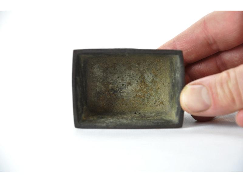 Rechthoekige bronzen suiban - 65 x 45 x 40 mm (Doban)