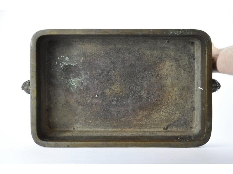 Suiban rectangular de bronce - 460 x 305 x 135 mm (Doban)