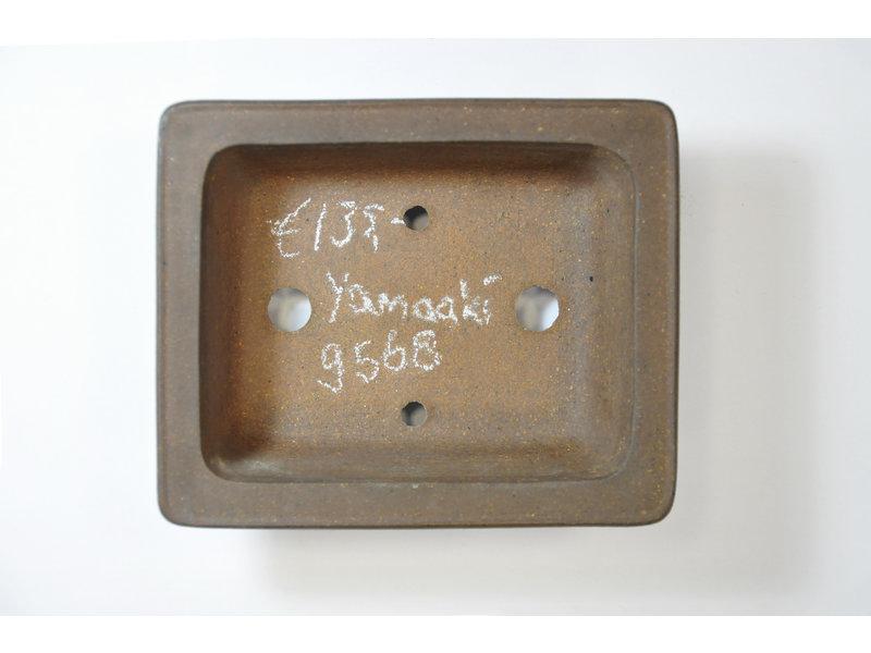 Rechthoekige ongeglazuurde Yamaaki-pot - 135 x 110 x 40 mm