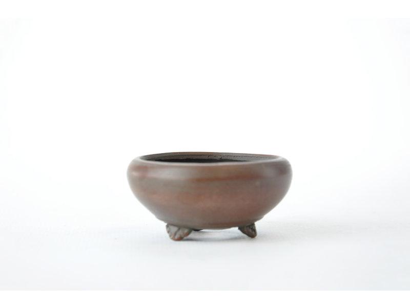 Ronde ongeglazuurde Bigei-pot - 50 x 50 x 20 mm