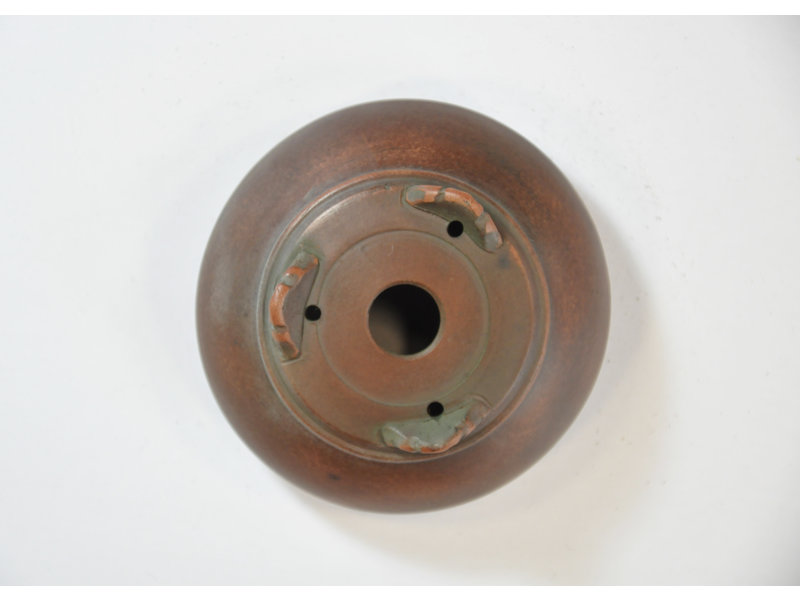 Ronde ongeglazuurde Bigei-pot - 80 x 80 x 35 mm