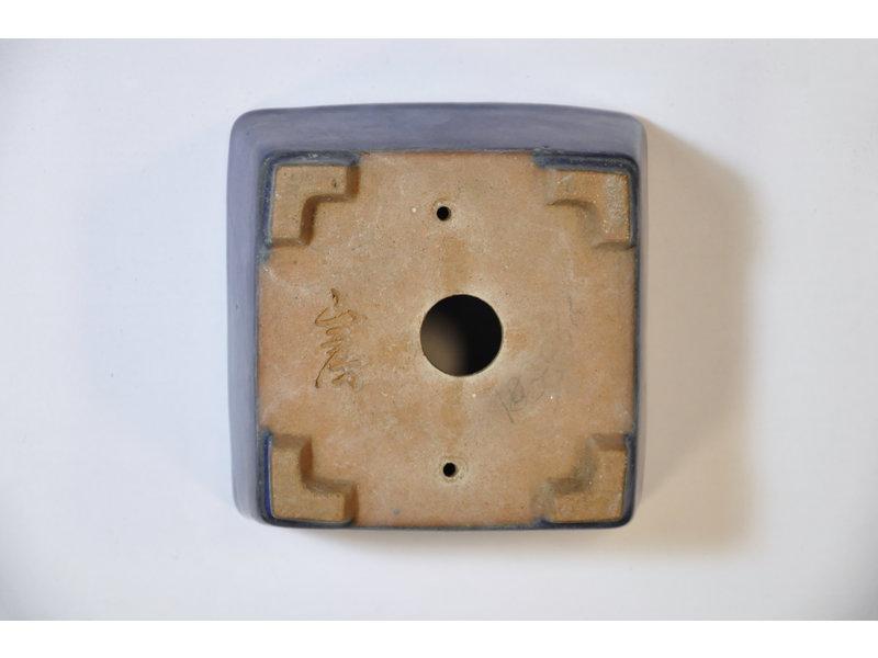 Vierkante blauwe Yamafusa-pot - 90 x 90 x 50 mm
