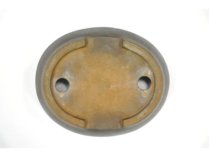 Ovale ongeglazuurde Hokido-pot - 165 x 135 x 30 mm