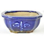 Vierkante blauwe Heian kousenpot - 120 x 120 x 50 mm