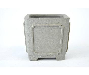 Bonsai pot van 85 mm van Shibakatsu uit Tokoname. Vierkant, ongeglazuurd.