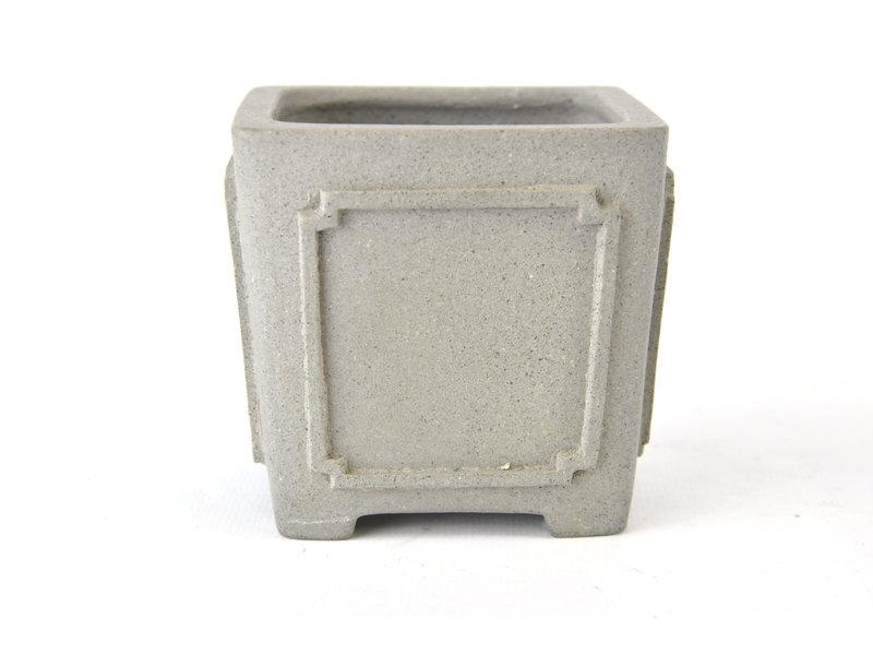 Vierkante ongeglazuurde Shibakatsu-pot - 85 x 85 x 8 mm