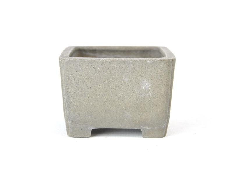 Vierkante ongeglazuurde Shibakatsu-pot - 98 x 95 x 65 mm