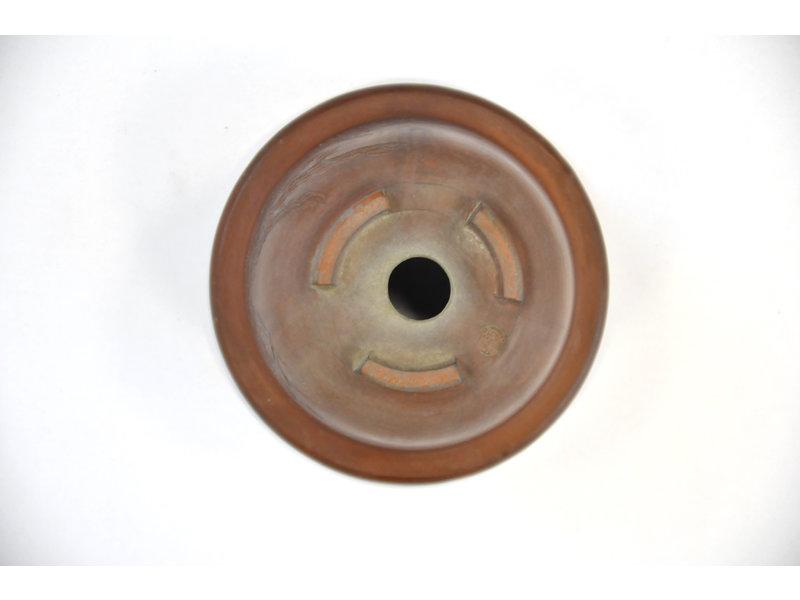 Ronde ongeglazuurde Bigei-pot - 90 x 90 x 55 mm