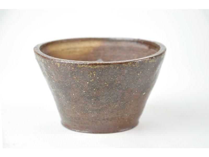 Ronde bruine Bonsa-pot - 95 x 90 x 50 mm
