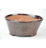 Ronde bruine Bonsa-pot - 110 x 107 x 50 mm