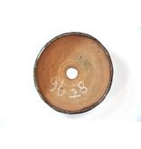 Ronde bruine Bonsa-pot - 116 x 114 x 40 mm