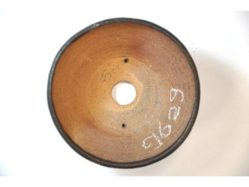 Ronde bruine Bonsa-pot - 117 x 120 x 55 mm
