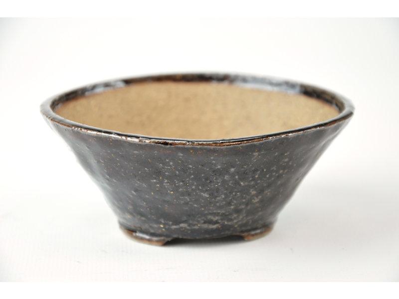 Ronde bruine Bonsa-pot - 102 x 102 x 40 mm