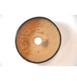 Ronde bruine Bonsa-pot - 109 x 112 x 40 mm