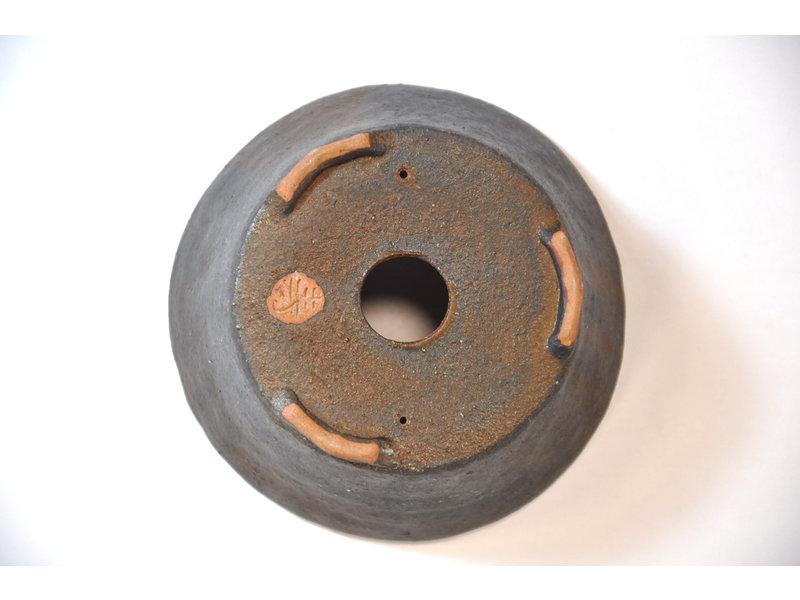 Ronde bruine Bonsa-pot - 110 x 120 x 45 mm