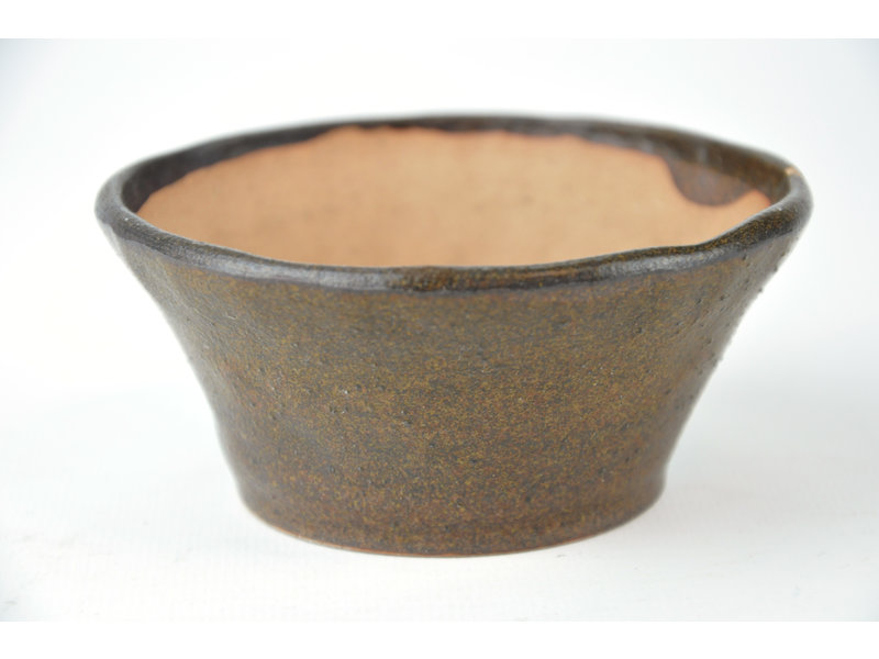 Ronde bruine Bonsa-pot - 102 x 102 x 45 mm